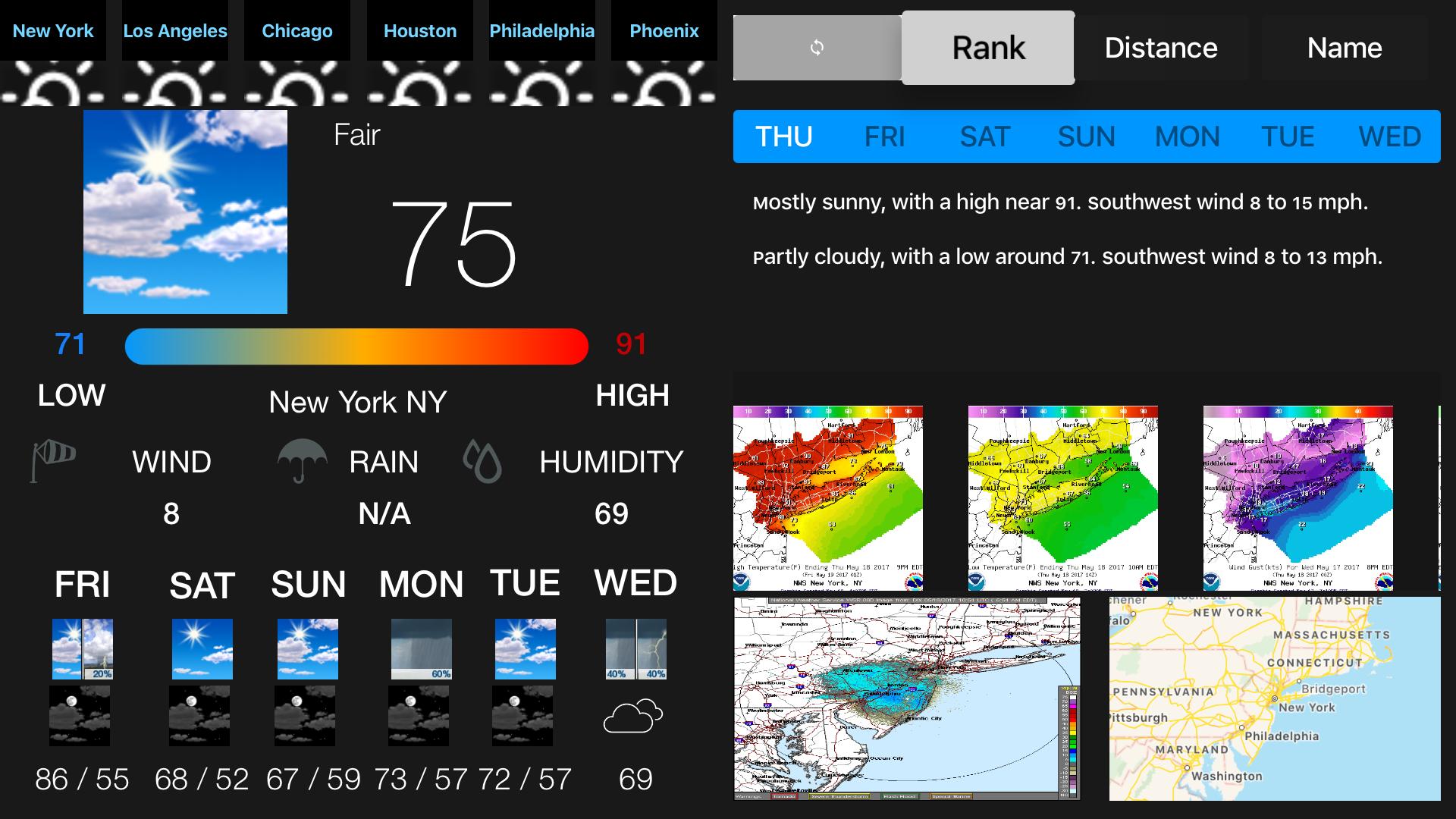 Instant NOAA Weather Forecast Pro screenshot 1