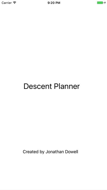 Descent Planner
