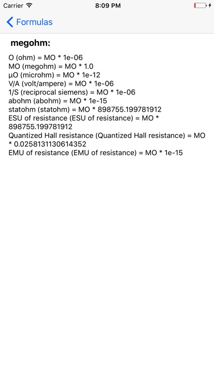 Electric resistance converter screenshot-3