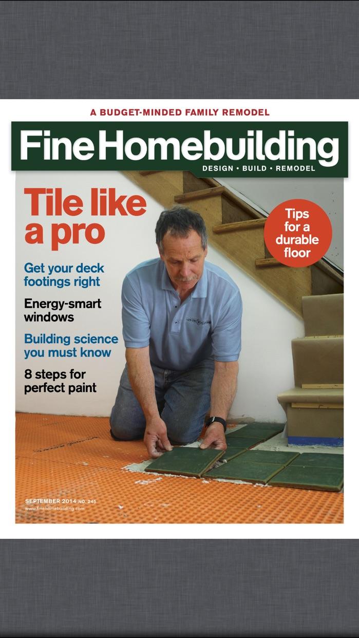 Fine Homebuilding Magazine Screenshot