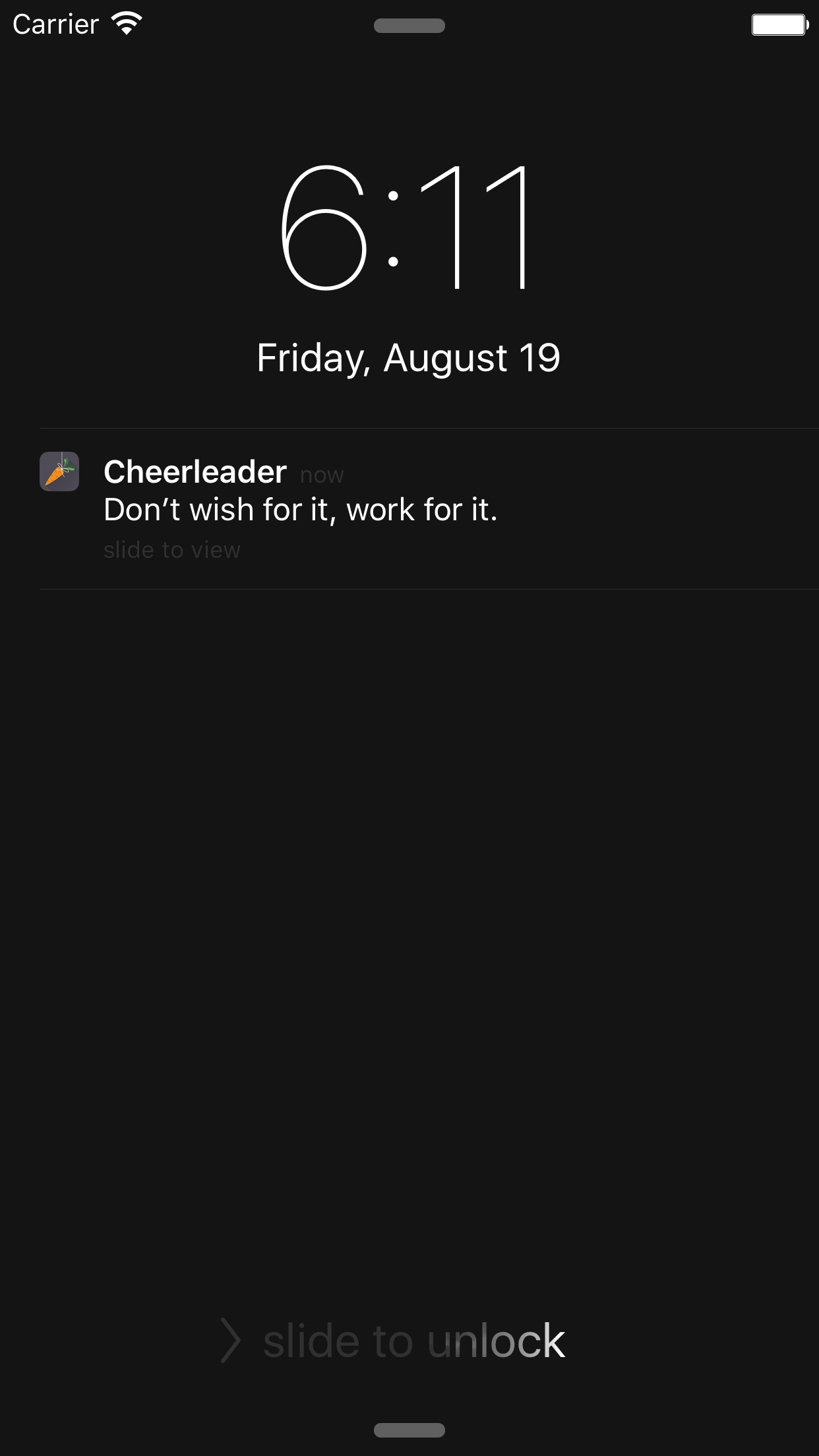 Screenshot do app Cheerleader - Stay Productive
