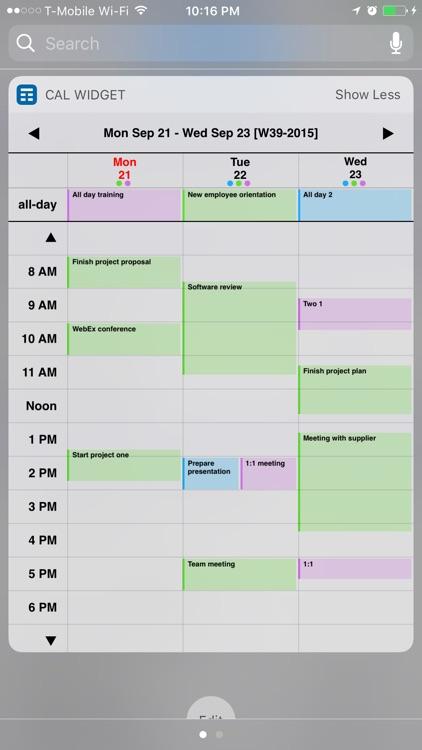 Week Calendar Widget Pro screenshot-3