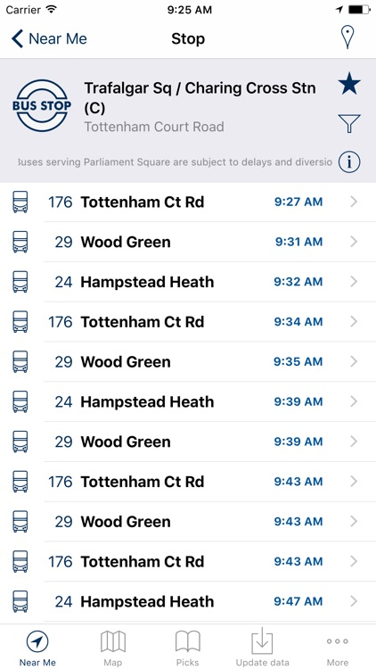London Bus Live Departures