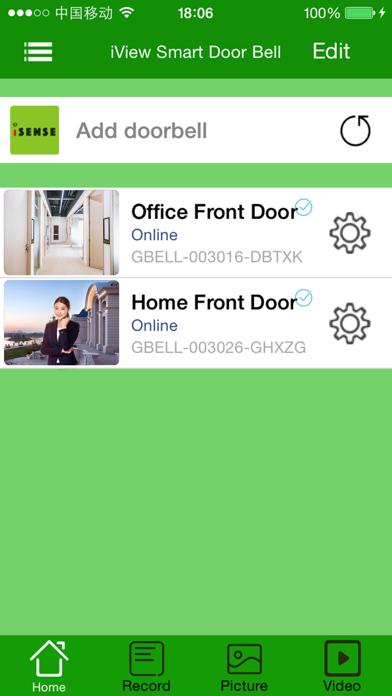 iSense Smart Door Bell screenshot two