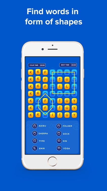 Pin Shape - word game puzzle fun brain challenge