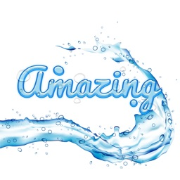 Compliment - Cool Water Text Stickers