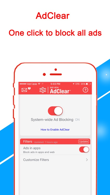 AdClear - Ad Blocker, block ads in apps/browsers screenshot-1