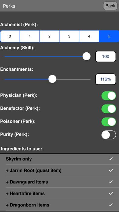Alchemy for Skyrim ® screenshot four