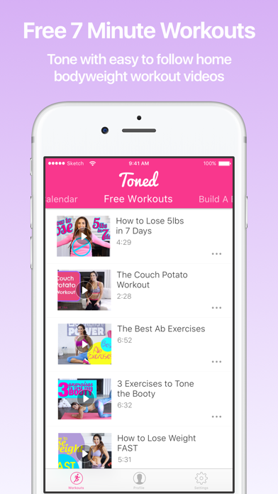 Toned - Home Workouts by Natalie Jill Fitness by Flexter Inc