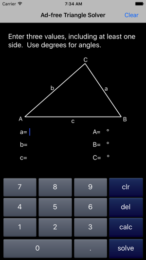 Triangle Solver on the App Store