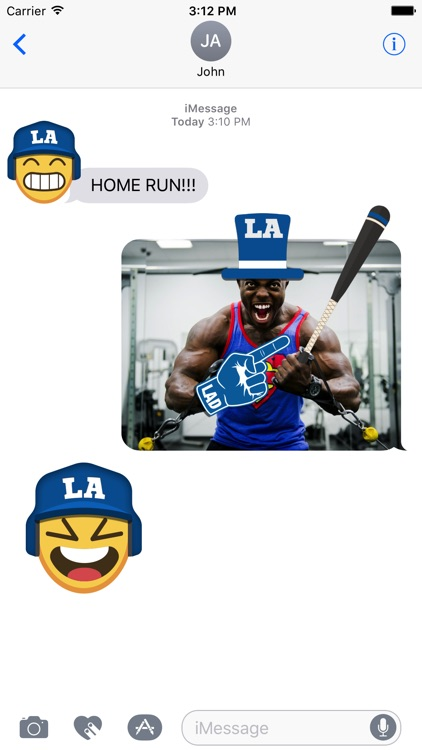 Los Angeles D Baseball Stickers & Emojis