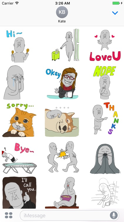 Grayman - Funny Scenes (Animated Stickers)