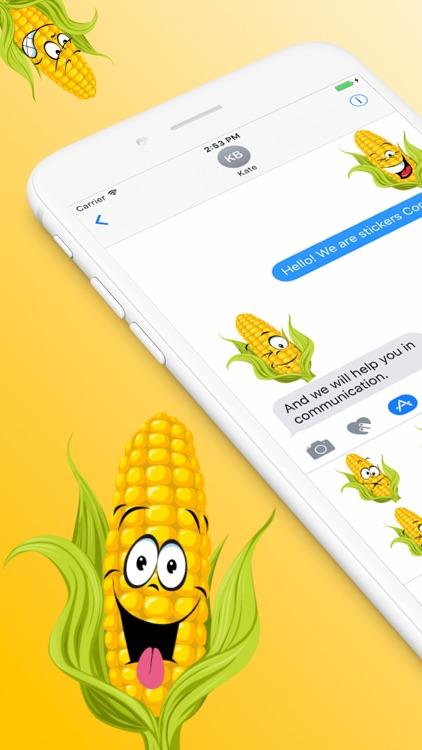Corn SP emoji stickers