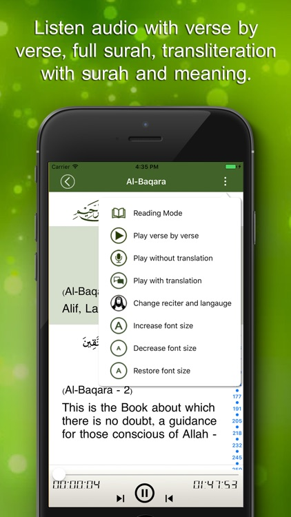 Quran Audio - multi reciter and language