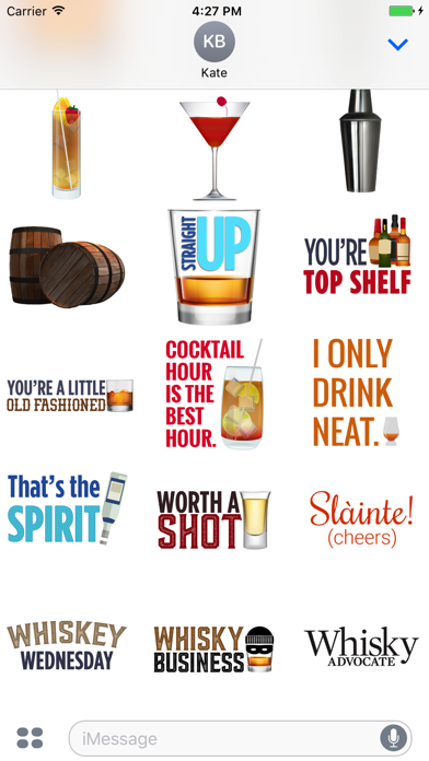 Whisky Advocate Stickers Screenshot