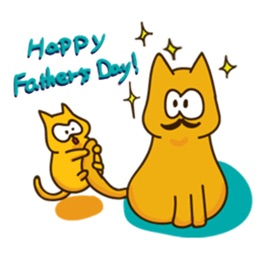 Father's Day 2017 Of Cute Cat Sticker