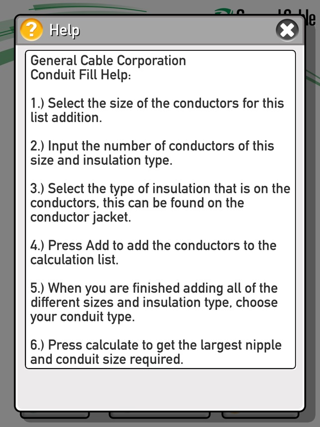 General cable conduit fill calculator on the app store greentooth Choice Image