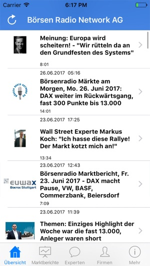 Borsenradio Borse Horen Von Borsen Radio Network On The App Store
