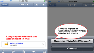 Winmail.dat Viewer - For iOS 10