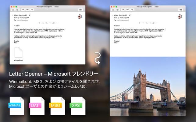winmail dat viewer letter opener 4 をmac app storeで