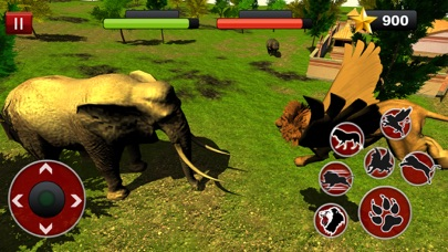 Flying Lion Simulator : Angry Wild Animal Fight