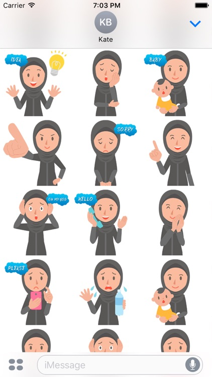 Muslimoji woman screenshot-3