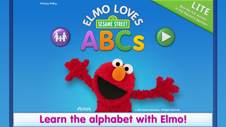 Elmo Loves ABCs Lite screenshot-0