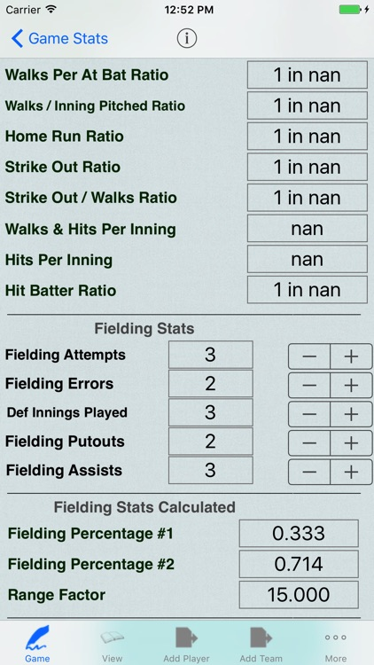 Baseball Player Stats Tracker for Game Statistics screenshot-3