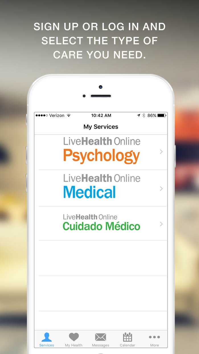 LiveHealth Online Mobile Screenshot