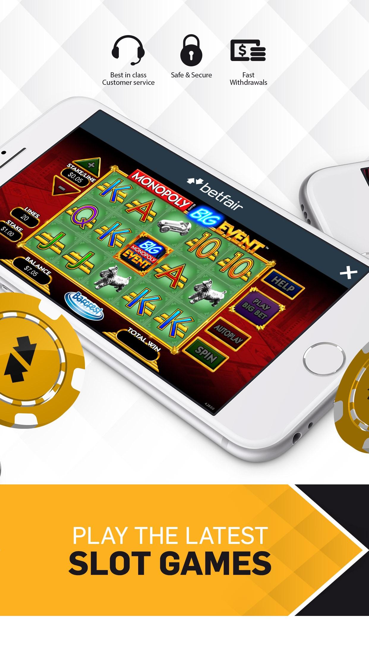 Betfair Casino NJ - Real Money Screenshot