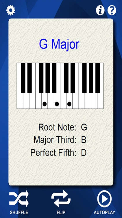 Piano Chords Flash Cards