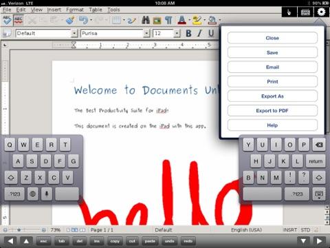 無制限の文書オフィス for iPad - 編集Office Word,Excel Docsのおすすめ画像1