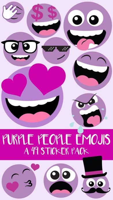 Purple People Emojis Sticker Pack screenshot one