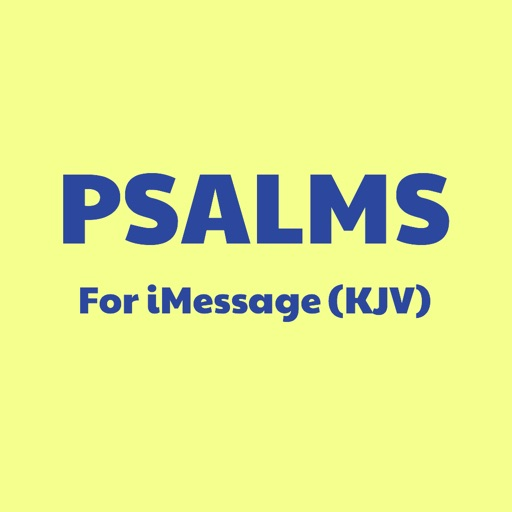 PSALMS Verses for iMessage Texts (KJV)