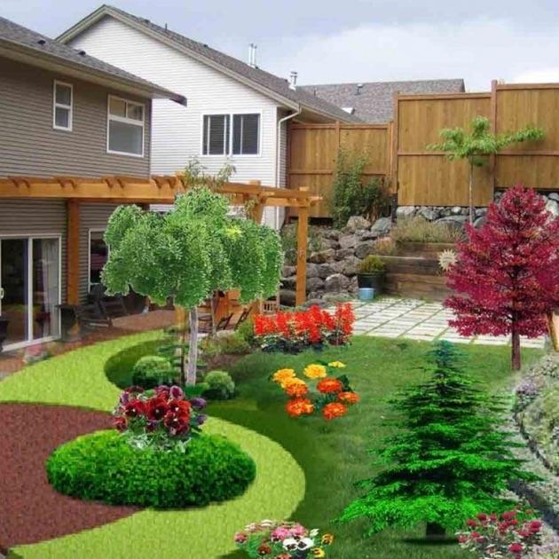 Landscaping ideas yard garden design catalogs on the for Garden design ideas in south africa