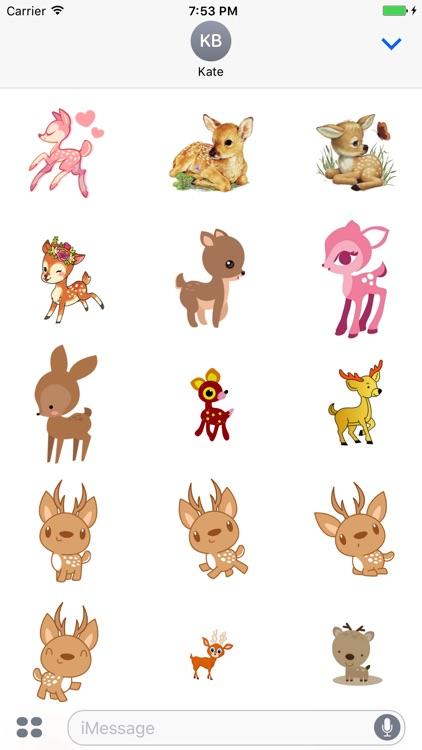 DeerCute - Deer Stickers And Emoji Pack