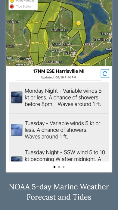 Screenshot for Boating Weather and Tides in United States App Store