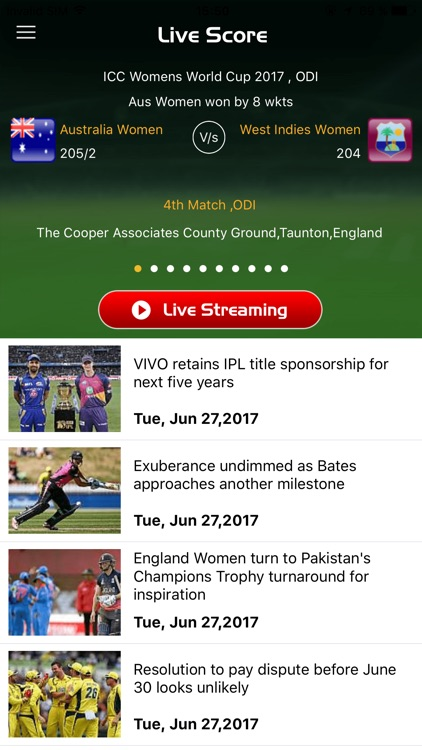 Cric Score - Live Cricket Score and News