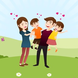 Joyful Family iMessage Photo Stickers
