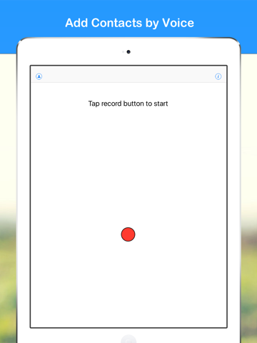 Screenshot of Fast Add Contacts by Voice