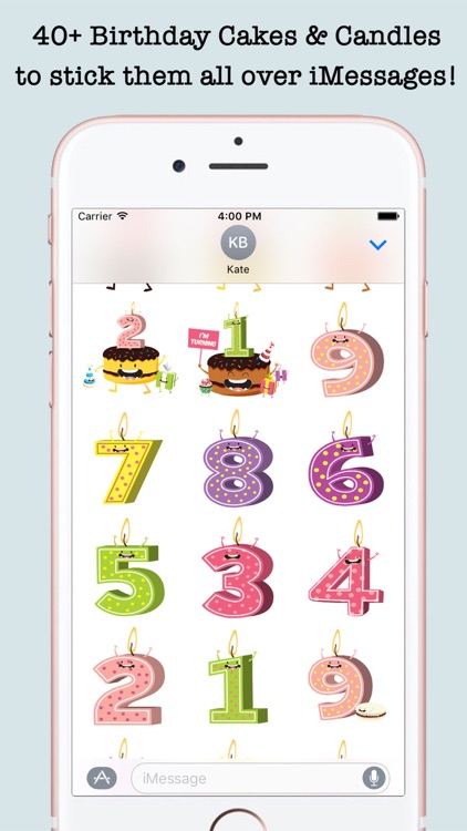 Birthday Wishes Cakes & Candles Emojis screenshot-3