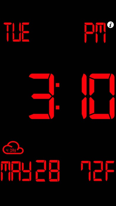 Screenshot #7 for iDigital Big2 Alarm Clock - Biggest Time Display