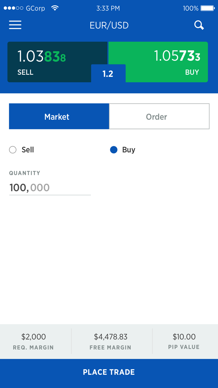 FOREX.com Mobile Screenshot