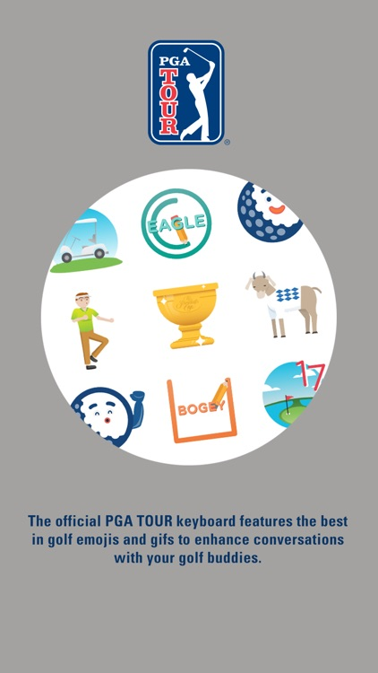 PGA TOUR Emoji Keyboard screenshot-0