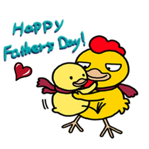 Father and Son Chicken Sticker