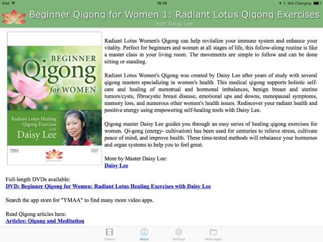 Beginner Qigong for Women 1 (YMAA)/ on the App Store