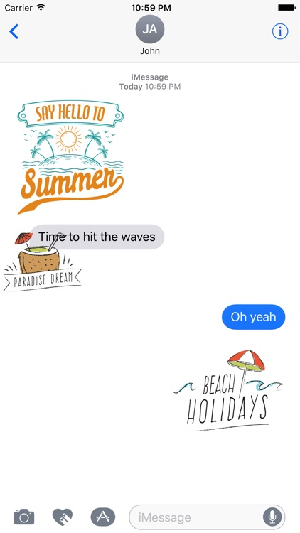 Animated Summer Fun Quotes Stickers