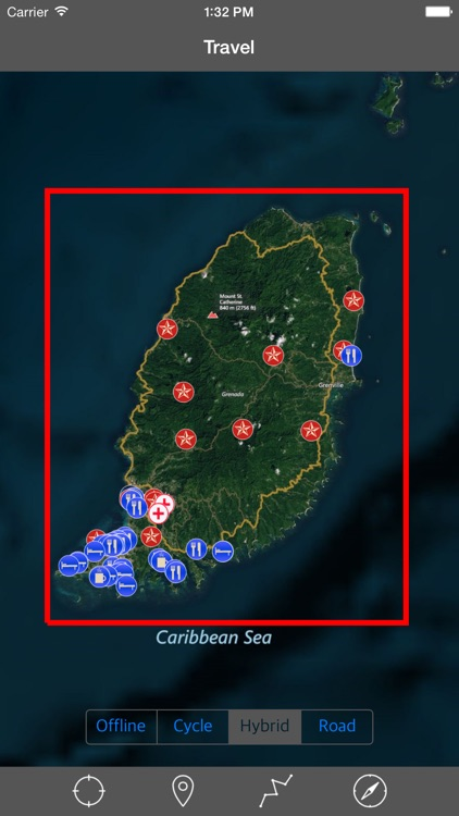 GRENADA – GPS Travel Map Offline Navigator