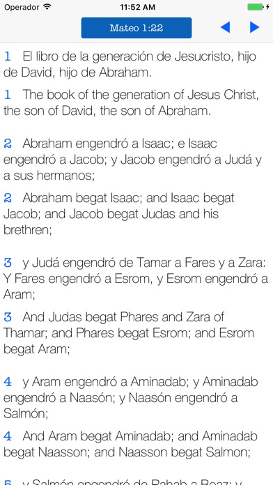 Screenshot for Bilingual Bible English Spanish - KJV Reina Valera in Sri Lanka App Store