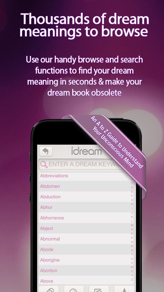 iDream - Dream Interpreter and Journal Screenshot